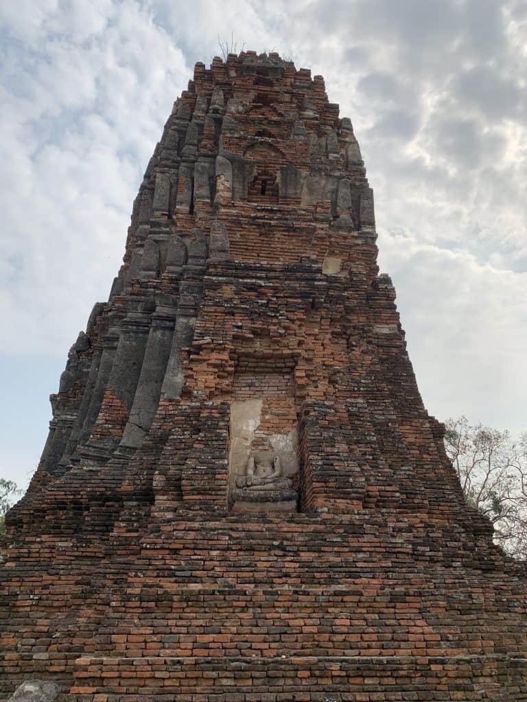 stupa contains a headless Buddha
