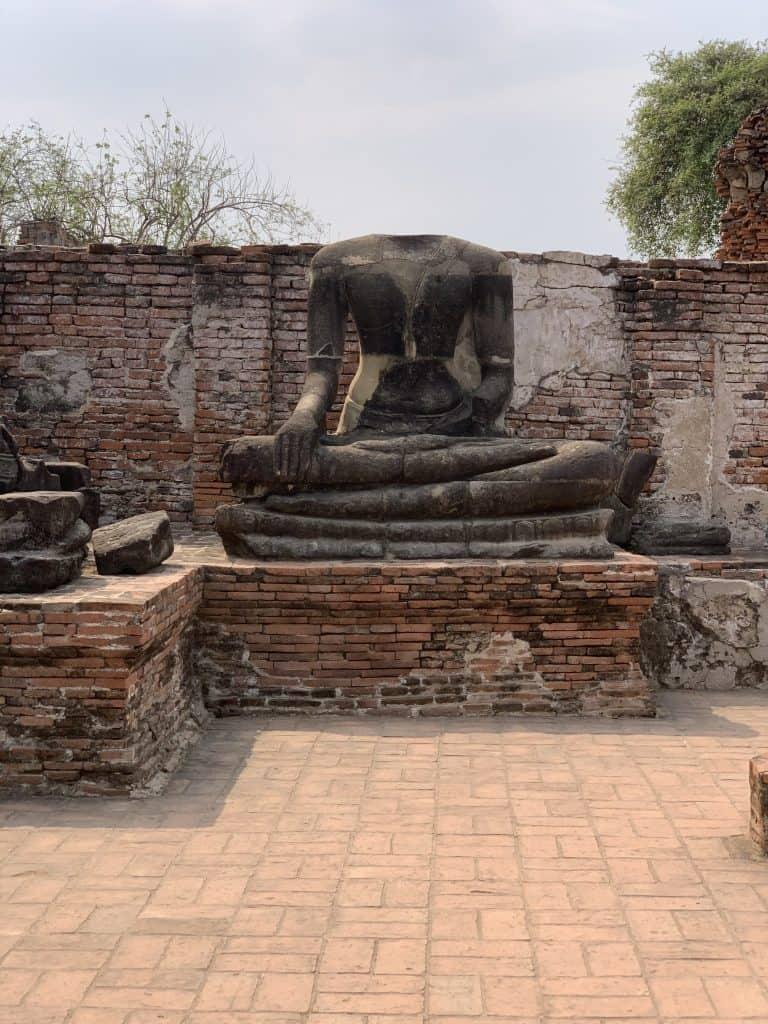 Buddha statue without a head