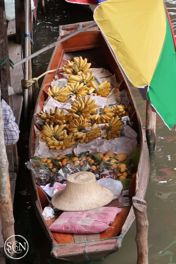 Bananas and Mangos. From a Boat! Come see what the market has to share!