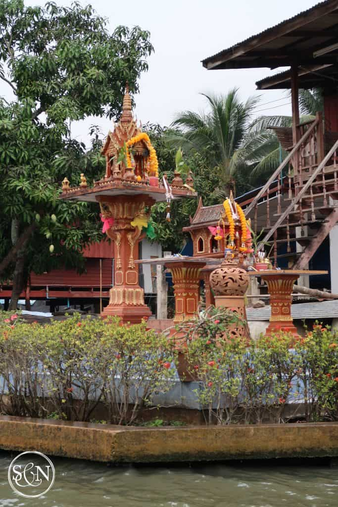 Shrines are an important part of life in Thailand, even along the canal.