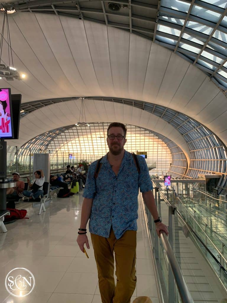 Bangkok airport sees fewer crowds
