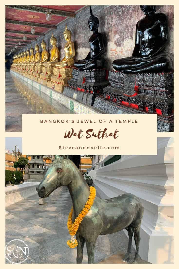 Pinterest pin for Bangkok temples
