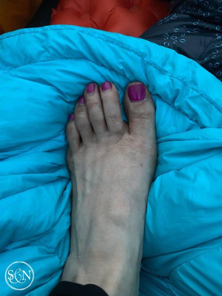 Dirty Hiking Feet