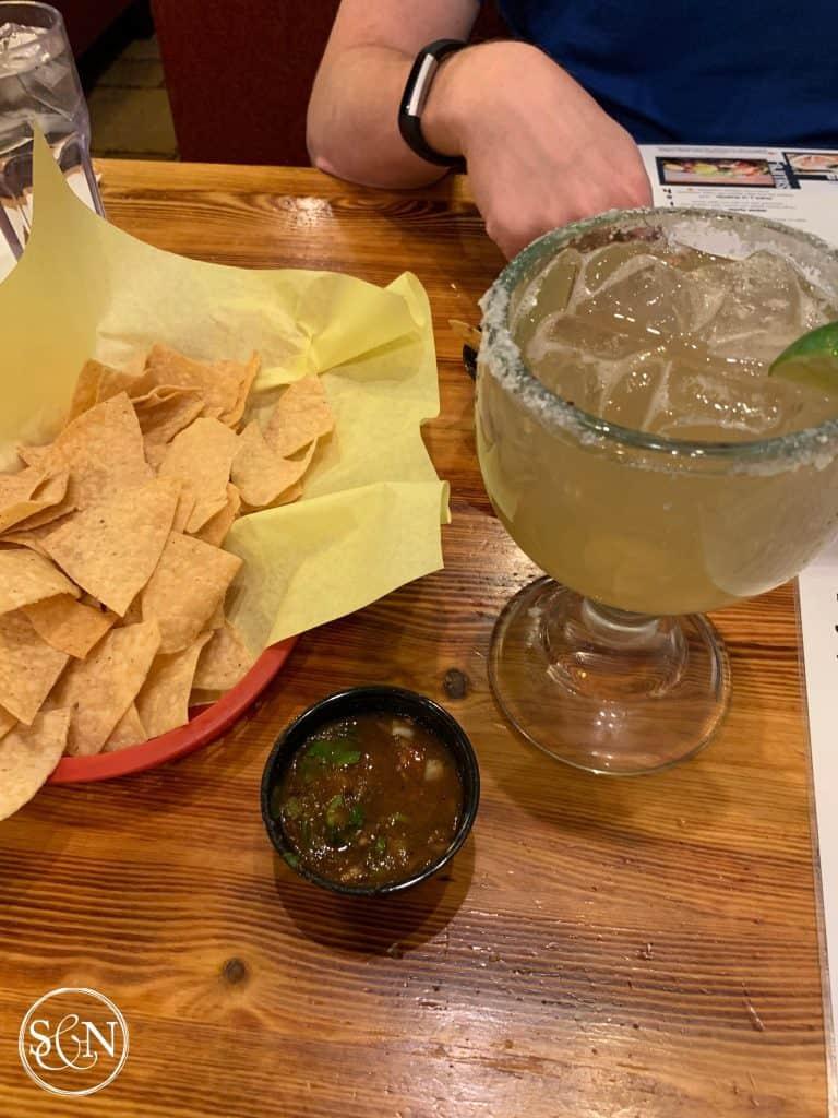 Enjoying our own margaritas